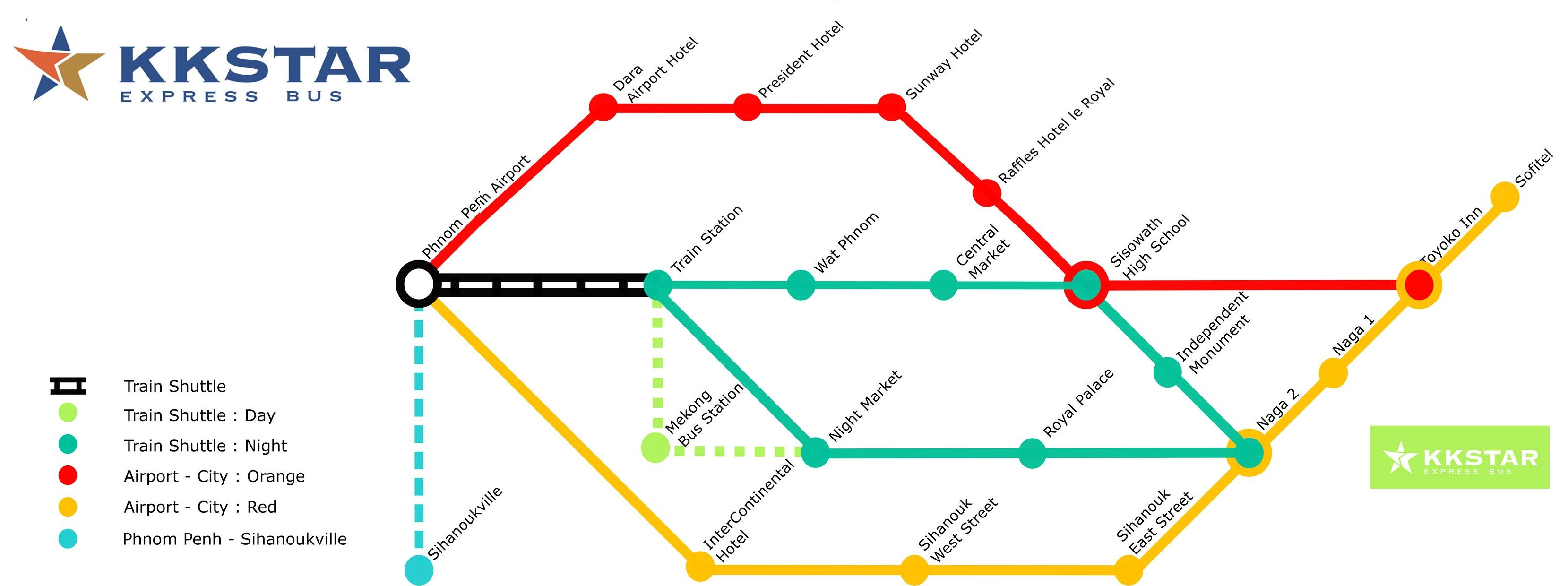 KKSTAR Express Bus Routes